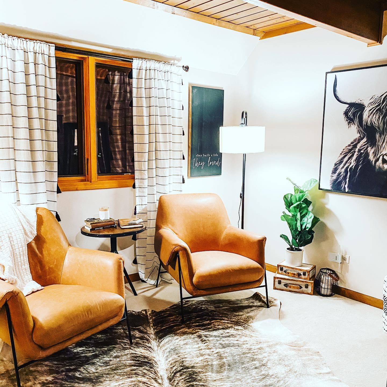 Bottom Dollar Design furniture arrangement inside home